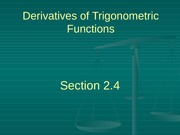 2.4 Derivatives of Trig Functions
