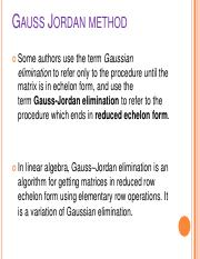 Lecture 7 Guass Elimination  and Guass jorden method..pdf