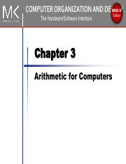Ca Ch3 Pdf Risc V Computer Organization And Design The Hardware Software Interface Chapter 3 Arithmetic For Computers Edition Operations On Integers Course Hero
