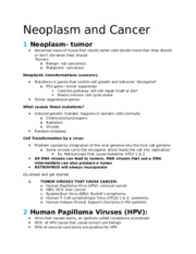 Neoplasm and Cancer