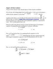 Tangents with Polar Coordinates