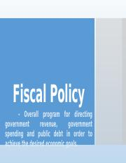 4 Fiscal policy - Taxation