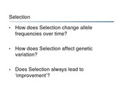 4-Natural Selection I