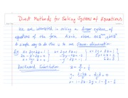 Direct Methods for Solving Systems of Equations