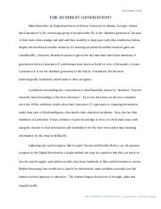 Argumentative Synthesis Essay
