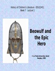 History 7-1 Beowulf.ppt