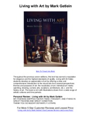 Living with Art by Mark Getlein - 5 Star Review