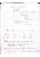 managerial accounting-review chapter 3