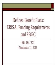 Fin434_Fall2015_November11Lecture_Defined_Benefit_Plans_Posted