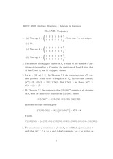 Excercise Sheet 7 Solution