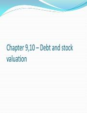 Chapter 9,10 – Debt and stock valuation.pdf