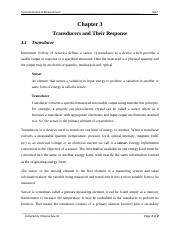 L1_1Transducers and Their Response