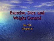 Module  8 (Lec 1) - Exercise, Diet and Weight Control