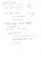 Calculus II Quiz 6 Solutions