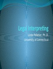 12 Legal Interpreting