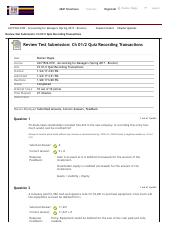 Review Test Submission: Ch 01:2 Quiz Recording Transactions &...