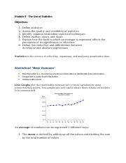 Module 6 - The Use of Statistics.docx