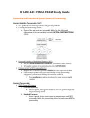 B LAW 441 - Final Exam Study Guide.docx