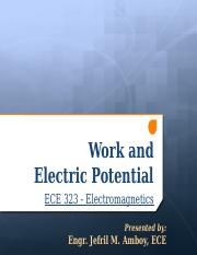 Work and Electric Potential