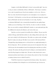 High School Essay 5: McDonalds