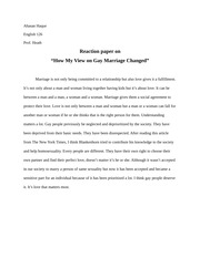 reaction paper on love up we should not be afraid of the tough 1 pages reaction paper on