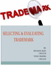 Selecting and Evaluating Trademark.pptx