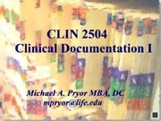CLIN 2504 Documentation