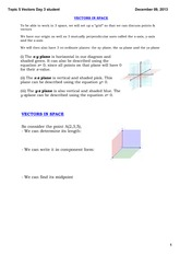 Topic 5 Vectors student
