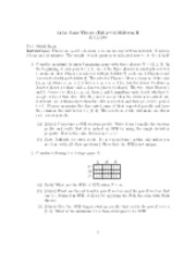 Intro to Game Theory Old Practice Midterm