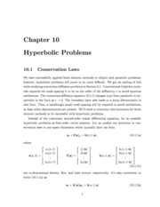 Hyperbolic Problems- Last Chapter