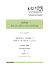 BMA334 Entrepreneurship and Inn_SOU_5_13