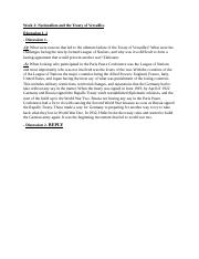 Week 2- Nationalism and the Treaty of Versailles.docx