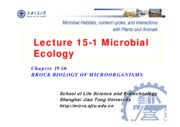 19-1 Lecture 15-1 Microbial Ecology