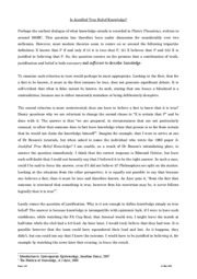 Is Justified True Belief Knowledge ESSAY