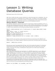datbase query exercise