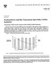 TechnoServe and the Tanzanian Speciatly Coffee Industry.docx