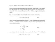 5 Review of time domain sinusoids and phasors