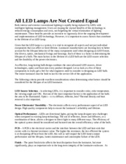 All LED Luminaires Are Not Created Equal