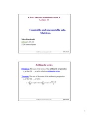 Lecture Notes D on Discrete Mathematics for CS
