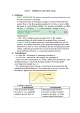 Class 7 – Confidence interval for mean