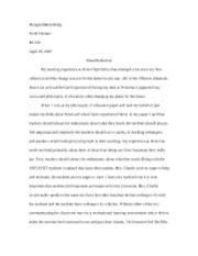 Education 105 Final Reflection Paper
