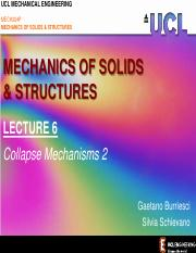 MoSS LECTURE 6 (Collapse Mechanisms 2) Summary