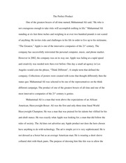 Think Different Essay (Rough Draft)