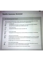 appetitie awearness worksheet