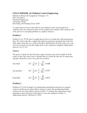 Homework 3 Solution on Air Pollution Control Engineering