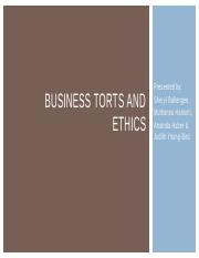 Business Torts and Ethics