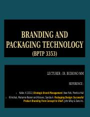 BRANDING AND PACKAGING TECHNOLOGY-CHAPTER 1 BDN