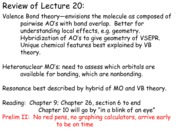 Chem 2070 Fall 2012 Day21 Lecture Notes