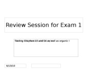 Exam 1 review session (Chapter 15 and 16)
