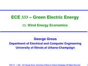 Lecture 11 Wind energy economics